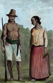 Marianerna - Guam - J�gare och Kvinna av Umata
