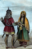 Stich von Traditionelle Kleidung - Adyghe - Kaukasien