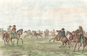 Gauchos in Pampas - Horse Race - Argentina (South America)