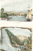 View of Hartford (Connecticut) - Catskill Falls - Appalachian Mountains (United States of America)
