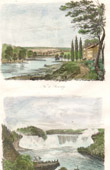 View of Schenectady - State of New York - View of Niagara Falls (United States of America)