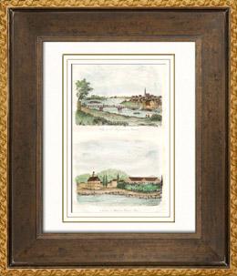 Ansicht von Saint-Hyacinthe - Qu�bec - Kaserne und Markt zu Frederick-Town - New Brunswick (Kanada)