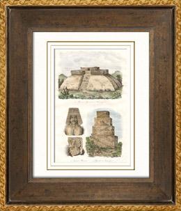 Mexiko - Tehuantepec - Pyramiden - Skulpturen