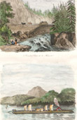 View of Mohawk River - Little Falls - New York State - View of Lake Champlain (United States of America)