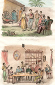 Antilles - Dance in Cumaná  - Scene of the everyday life - Dining Room in Ste-Marthe - Guiana