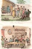 Antillen - Tanz zu Cuman�  - Szene des t�gliches leben - Esszimmer zu Ste-Marthe - Guayana