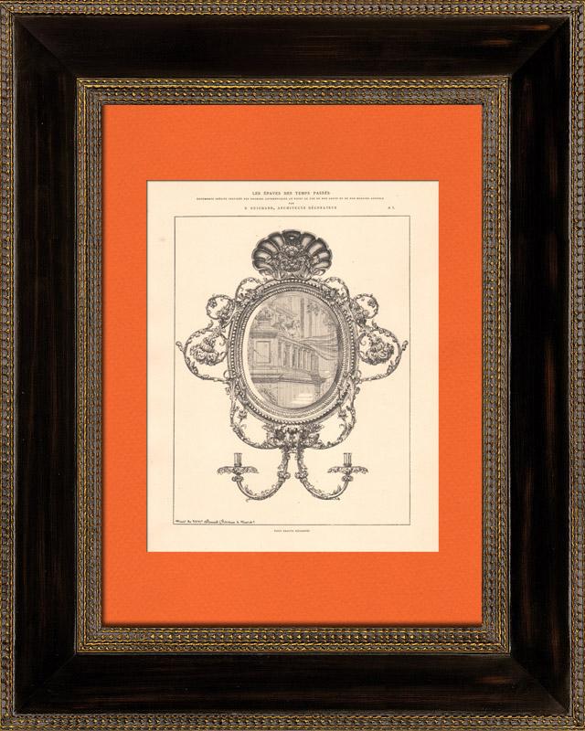 Gravures anciennes gravure de architecture d coration for Decoration 18eme siecle