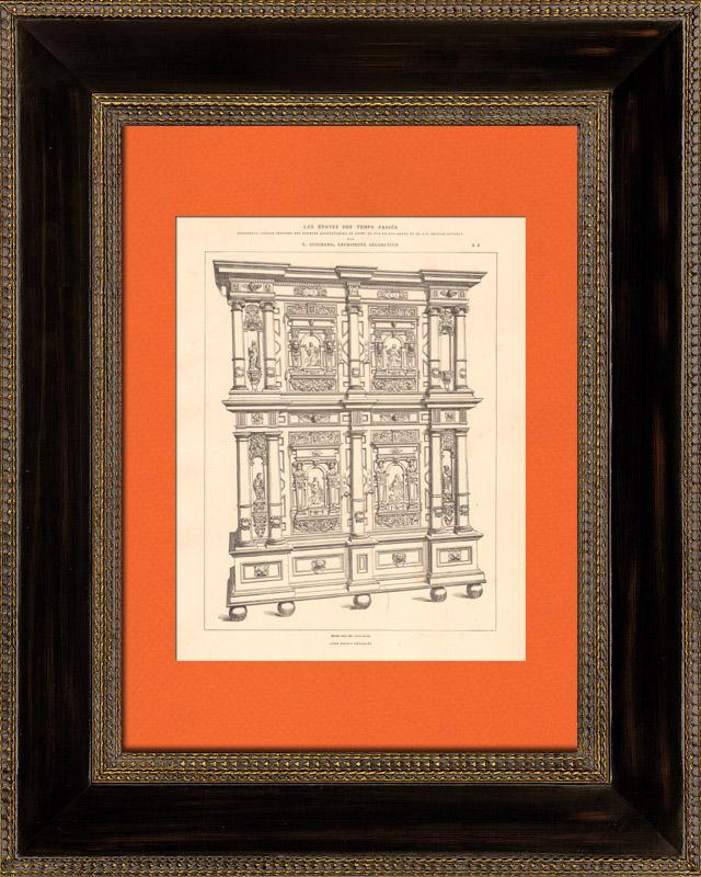 Gravures anciennes gravures de 7 me si cle for Architecture 17eme siecle
