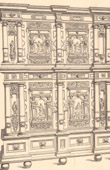 Architecture - Decoration - Furniture - Cupboard - Carved Wood - 17th Century - XVIIth Century