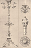 Architecture - Decoration - Candlestick - Arabesque - XVth Century - XVIIth Century