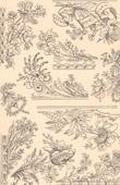 Architektur - Dekoration - Friesland - Blumen - 18. Jahrhundert - XVIII. Jahrhundert (Bony - Lyon - Frankreich)