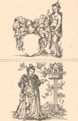 Dekoration - Illustration - Antikes Rom - Frauenkleidungen - Mode - Allegorie - 16. Jahrhundert - XVI. Jahrhundert (Jost Amman)
