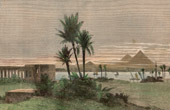 Vue du Nil près du Vieux Caire (Egypte)