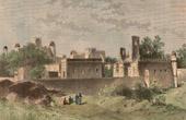 Stich von Palast von Negus in Gondar (Äthiopien)
