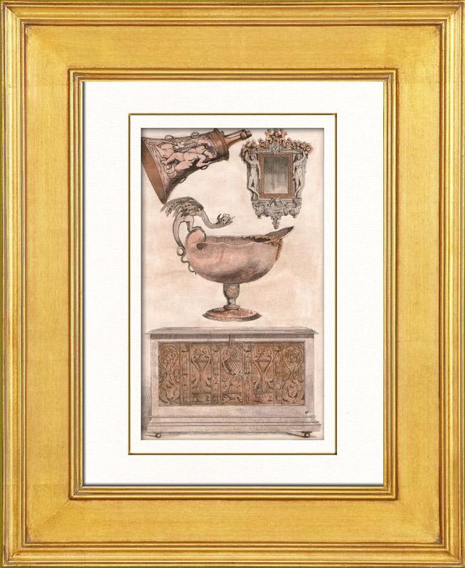 Gravures anciennes gravure de meubles anciens et for Anatomie du meuble
