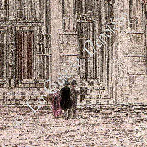 antique prints print of villeneuve le roi church france. Black Bedroom Furniture Sets. Home Design Ideas