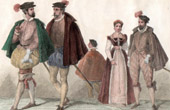 French Fashion and Costumes - 16th Century - XVIth Century - Courtesans