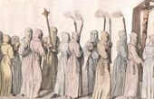 Procession of White Penitents - Paris - XVIth Century - Henry III of France