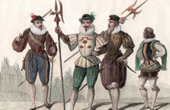 French Fashion and Military Costumes - 16th Century Style XVI - Swiss Guard - Musketeer - Court of the King of France