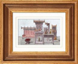 Gravures anciennes gravure de meubles anciens 15 me si cle for Anatomie du meuble