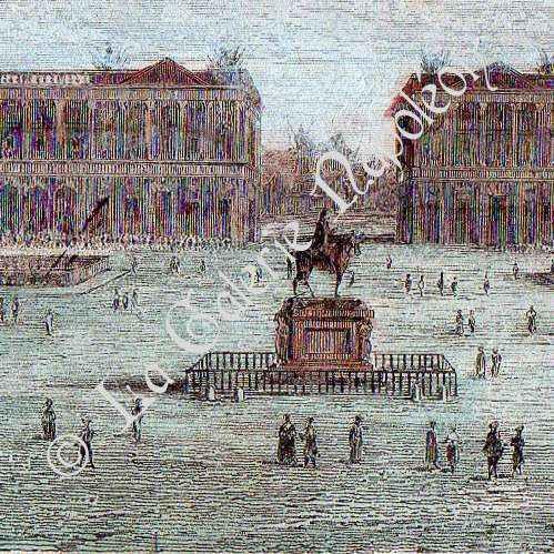 antique prints view of paris place de la concorde h tel du garde meuble de la couronne. Black Bedroom Furniture Sets. Home Design Ideas