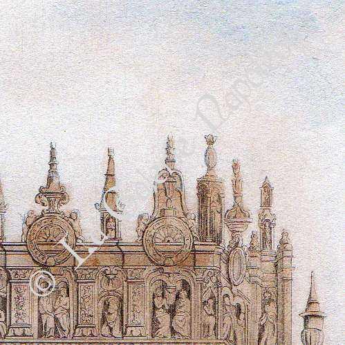 gravures anciennes tombeau des cardinaux d 39 amboise cath drale notre dame de rouen france. Black Bedroom Furniture Sets. Home Design Ideas