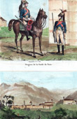 The Paris National Guard - Military Uniform - View of Chur - Canton of Graubünden or Grisons (Switzerland)