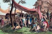 Guerres napol�oniennes - Grande Arm�e - Napol�on visitant les Ambulances