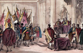 The flags of Austerlitz presented to the Senate - Napoleon Bonaparte - French Consulate - S�nat Conservateur