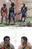 Stich von Militärkleidungen - Frankreich - Negertrupp - Porträts - Jean-Baptiste Nicolas Henri Boyer (1775-1813) - Pétion (1756-1794)
