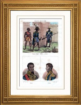 Milit�rkleidungen - Frankreich - Negertrupp - Portr�ts - Jean-Baptiste Nicolas Henri Boyer (1775-1813) - P�tion (1756-1794)