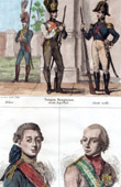 Ungarische Kleidung - Uniform - Ungarn - Kaiserliche Garde - Portr�ts - Paul I. von Russland (1754-1801) - Karl von �sterreich-Teschen (1771-1847)