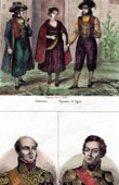 Traditional Costume of Bohemia - Peasant - Egra (Czech Republic) - Portraits of Davout (1770-1823) - Berthier (1753-1815)