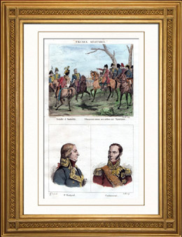 Schlacht bei Austerlitz (1805) - Portr�tss - Hautpoul (1789-1865) - Caulaincourt (1773-1827)
