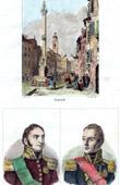 Stich von Innsbruck - Tirol - Alpen (Österreich) - Porträts - Bertrand Clausel (1772-1842) - Louis Marie Turreau (1756-1816)