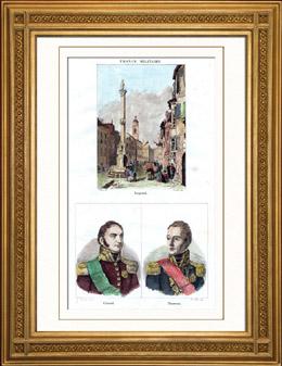 Ansicht von Innsbruck - Tirol - Alpen (Österreich) - Porträts - Bertrand Clausel (1772-1842) - Louis Marie Turreau (1756-1816)