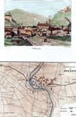 View of Bellinzona - Canton Ticino (Switzerland) - Map - Battle of Pozzolo (1800) - Napoleonic Wars - Napoleon Bonaparte