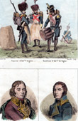 French Revolutionary Wars - Army of Italy - Battle of Novi (1799) - Portraits - Richepanse (1770 - 1802) - Joubert (1772-1843)