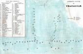 Plan of Naval Battle of Trafalgar - Spain (1805)