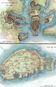 Plan von Malta - Stadt - Hafen