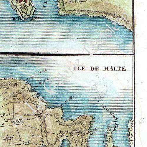 Gravures anciennes plan de malte ville port for Plan de malte