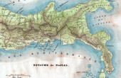 Antique print - Map - Kingdom of Naples - Italy