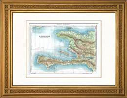 Gammalt Kartl�gga av Santo Domingo
