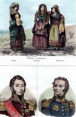 Neapolitan traditional Costume - Naples - Calabria - Abruzzo (Italy) - Portraits - Lamarque (1770-1832) - Maximilien S�bastien Foy (1775-1825)