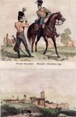 Costume Français - Uniforme Militaire (1799) - Hussard - Vue de Sirmione - Lombardie - Italie