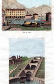 View of Italy - Lake Como - Port - Pavia - Lock
