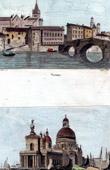 View of Verona - Ponte Pietra - Stone Bridge - Pons Marmoreus - Roman arch bridge - View of Venice - Veneto - La Dogana di Mare (Italy)