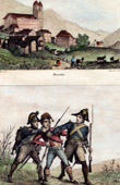 View of (Switzerland) - Canton of Graub�nden - Grisons - Uniform - Gendarmerie (1800)