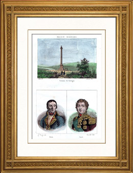 Napoleon I. - Pfeiler - S�ule - Die Gro�e Armee - Boulogne-sur-Mer (Frankreich) - Portr�ts - Bruix (1759-1805) - Soult (1769-1851)