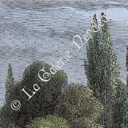 gravures anciennes ch teau de versailles petit trianon le village suisse gravure en. Black Bedroom Furniture Sets. Home Design Ideas